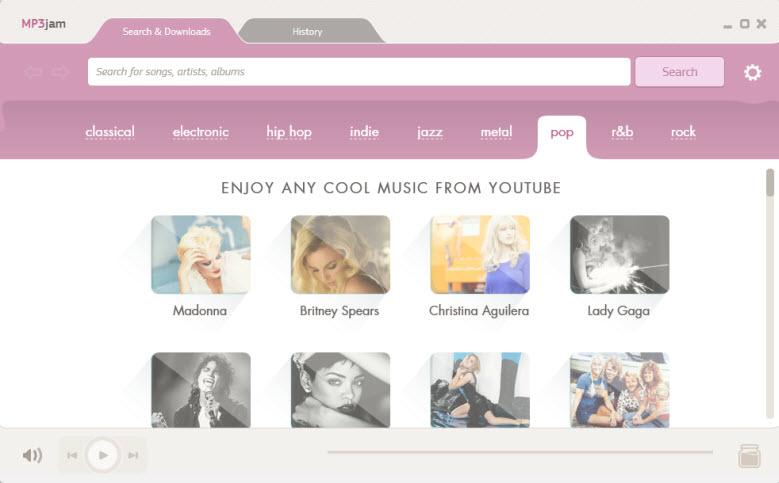 Buscar y descargar música en MP3 gratis con MP3jam